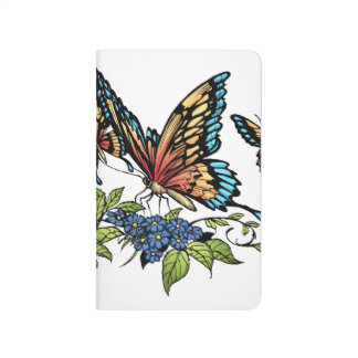 Beautiful Butterflies Art Customizable background Journal