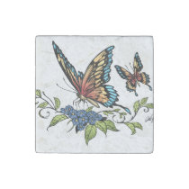 butterfly, butterflies, art, illustration, al rio, rainbow, colors, customizable, background, [[missing key: type_giftstone_magne]] com design gráfico personalizado