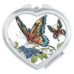 Beautiful Butterflies Art Customizable background Travel Mirrors