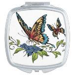 Beautiful Butterflies Art Customizable background Vanity Mirror