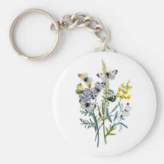 Beautiful Butterflies Basic Round Button Keychain