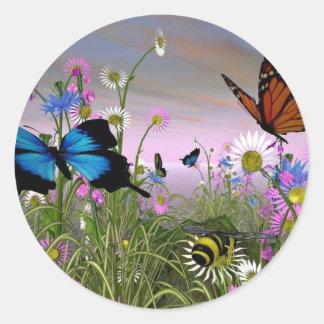 Beautiful-Butterflies-butterflies-9481156-1600-120 Pegatina Redonda
