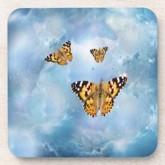 Beautiful Butterflies Beverage Coasters