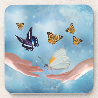Beautiful Butterflies Drink Coaster