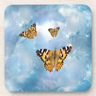 Beautiful Butterflies fantasy Drink Coasters