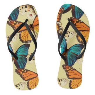 Beautiful Butterflies Flip Flops