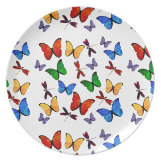 Beautiful Butterflies Party Decor Plate