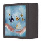 Beautiful Butterflies Premium Keepsake Boxes