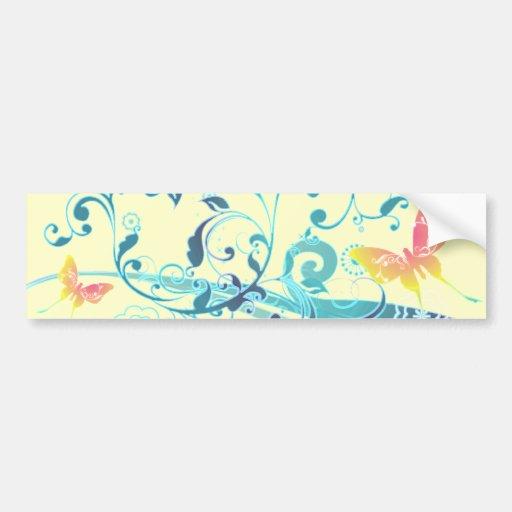 Beautiful Butterflies Pretty Blue Design Bumper Stickers