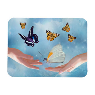 Beautiful Butterflies Rectangular Photo Magnet