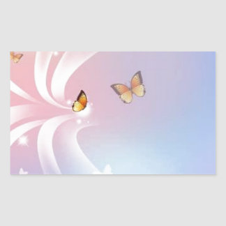 Beautiful Butterflies Rectangular Sticker