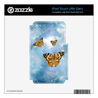 Beautiful Butterflies Decals For iPod Touch 4G