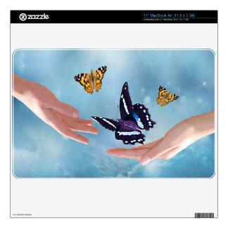 Beautiful butterflies MacBook decals