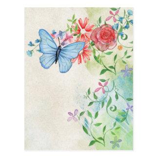 beautiful butterflies Watercolor Postcard