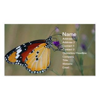 Beautiful butterfly and lifes nectar business card