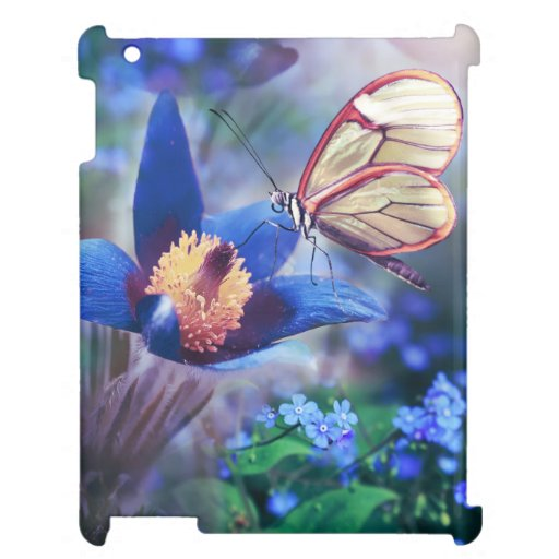 Beautiful Butterfly Blue Case for the iPad