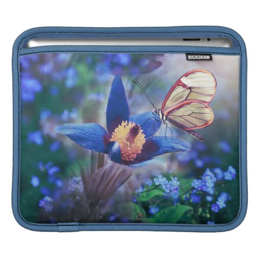 Beautiful Butterfly Blue iPad sleeve