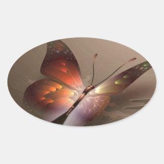 beautiful-butterfly-brown-pattern.jpg oval sticker