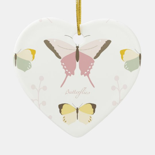 Beautiful Butterfly Ceramic Ornament