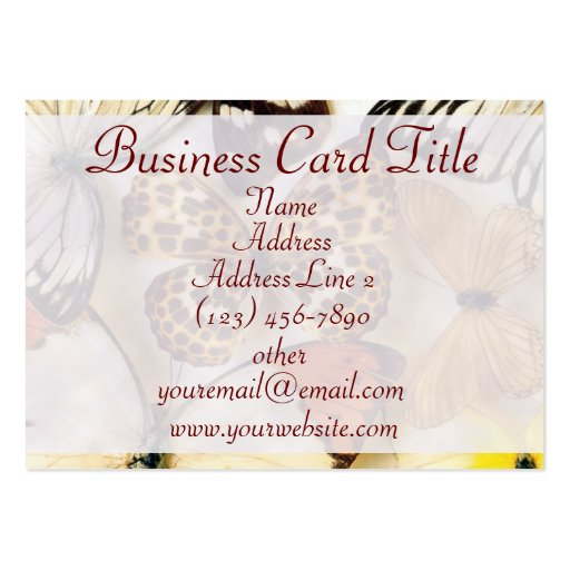 Beautiful Butterfly Collection Business Cards