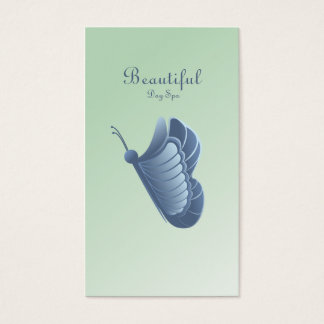 BEAUTIFUL BUTTERFLY DAY SPA PISTACHIO BUSINESS CARD