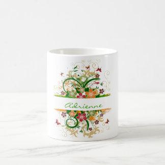 beautiful butterfly flower green, Adrienne Coffee Mug