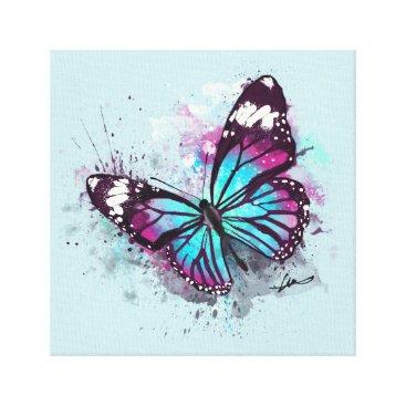 Art Themed Beautiful Butterfly Illustration Canvas Print