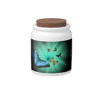 Beautiful Butterfly Journey Candy Jar