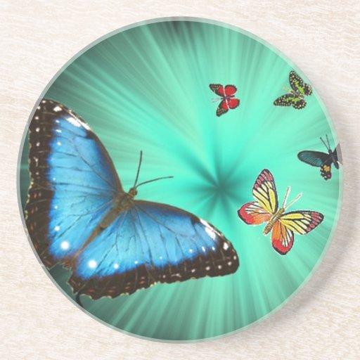 Beautiful Butterfly Journey Beverage Coasters