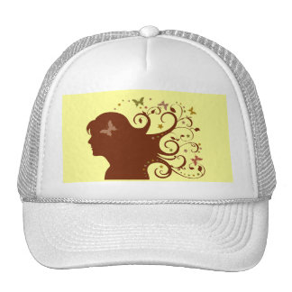 Beautiful Butterfly Lady Hats