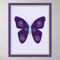 Beautiful Butterfly Nursery Art Poster