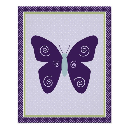 Beautiful Butterfly Nursery Art Poster