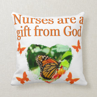 BEAUTIFUL BUTTERFLY NURSING DESIGN THROW PILLOW