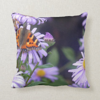 Beautiful Butterfly On Flowers Cushion