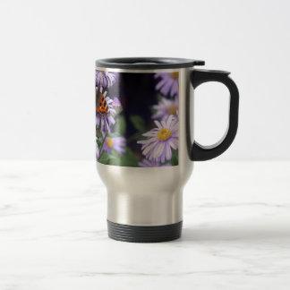 Beautiful Butterfly On Flowers Travel Mug