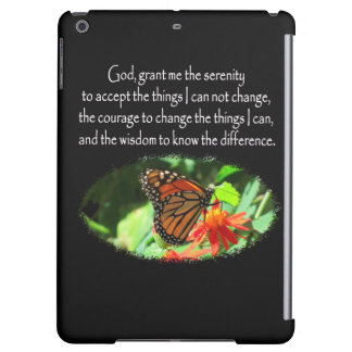 BEAUTIFUL BUTTERFLY PHOTO SERENITY PRAYER DESIGN