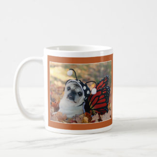 Beautiful Butterfly Pug Mug by Pugs and Kisses