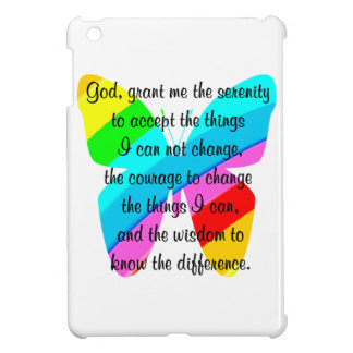 BEAUTIFUL BUTTERFLY SERENITY PRAYER DESIGN COVER FOR THE iPad MINI