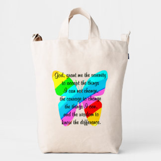 BEAUTIFUL BUTTERFLY SERENITY PRAYER DESIGN DUCK BAG