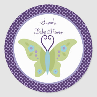 Beautiful Butterfly Stickers/Cupcake Toppers Classic Round Sticker
