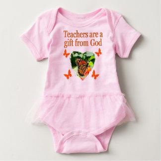 BEAUTIFUL BUTTERFLY TEACHERS PRAYER DESIGN BABY BODYSUIT