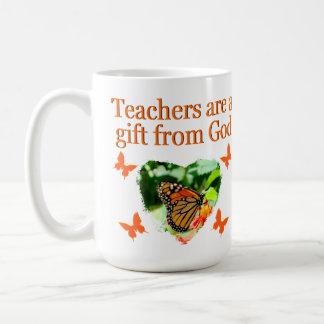 BEAUTIFUL BUTTERFLY TEACHERS PRAYER DESIGN COFFEE MUG