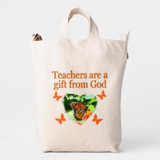 BEAUTIFUL BUTTERFLY TEACHERS PRAYER DESIGN DUCK BAG