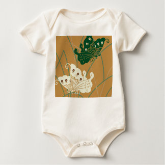 Beautiful butterfly to stay in grass baby bodysuit