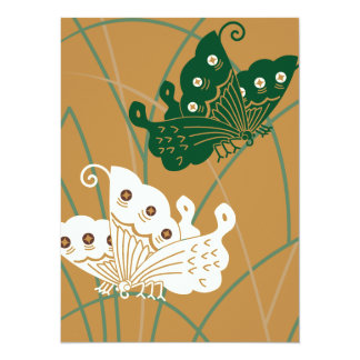Beautiful butterfly to stay in grass card