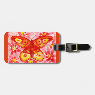 Beautiful Butterfly Watercolour Luggage Tag