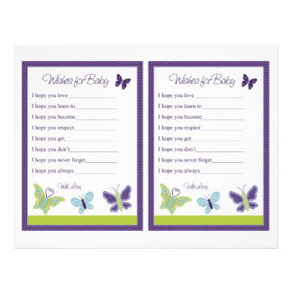 """""""Beautiful Butterfly"""" Wishes For Baby Sheet"""