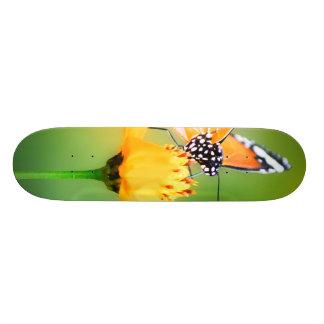 Beautiful Butterly on Flower Skate Boards