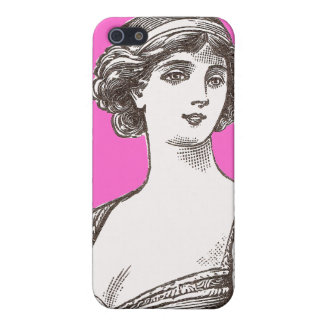 Beautiful Buxom Vintage Flapper Lady Pink Girly iPhone SE/5/5s Case