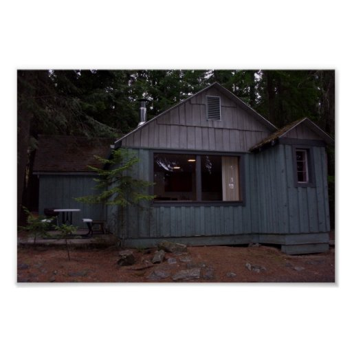 Beautiful Cabin Near Lake Idaho Poster